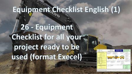 Equipment Check List (English)