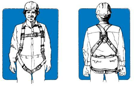 Putting on a full body harness