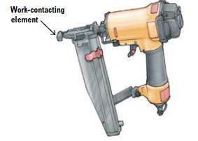Safe use of pneumatic nailing and stapling equipment