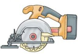 Safe use of portable circular saws