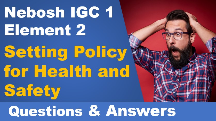 Element 2 – Setting Policy for Health and Safety